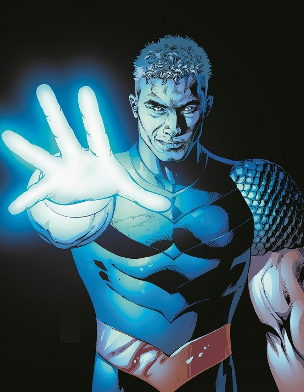 Depiction of Jericho with an outstretched, glowing hand.