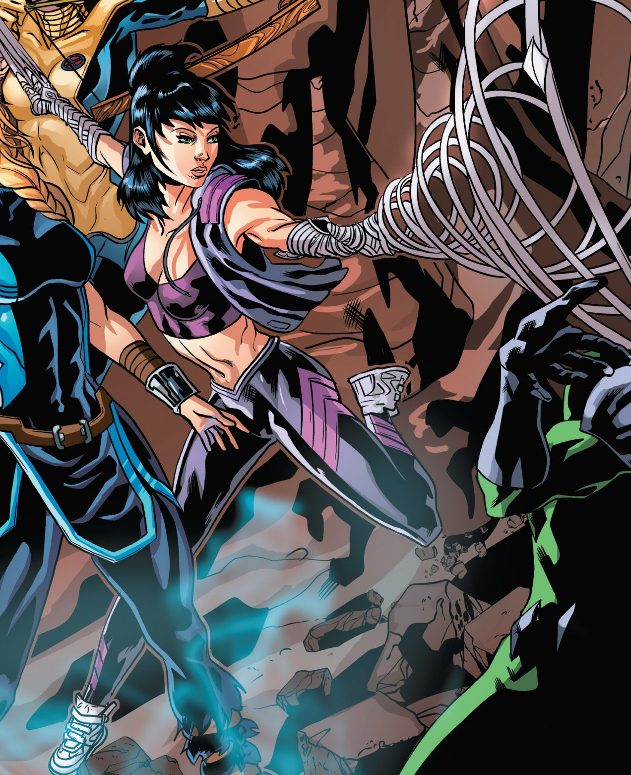 Depiction of Ren using her Inhuman ability. Ren is a lesbian Inhuman in the Marvel Universe.