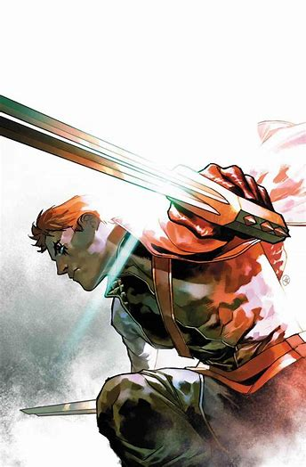 Shatterstar is depicted waving his sword. Shatterstar is a bisexual mutant member of X-Force and the New Mutants.