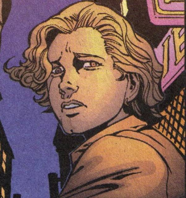 Depiction of Terry looking back in fear. Terry is the victim of a gay bashing hate crime in Green Lantern.