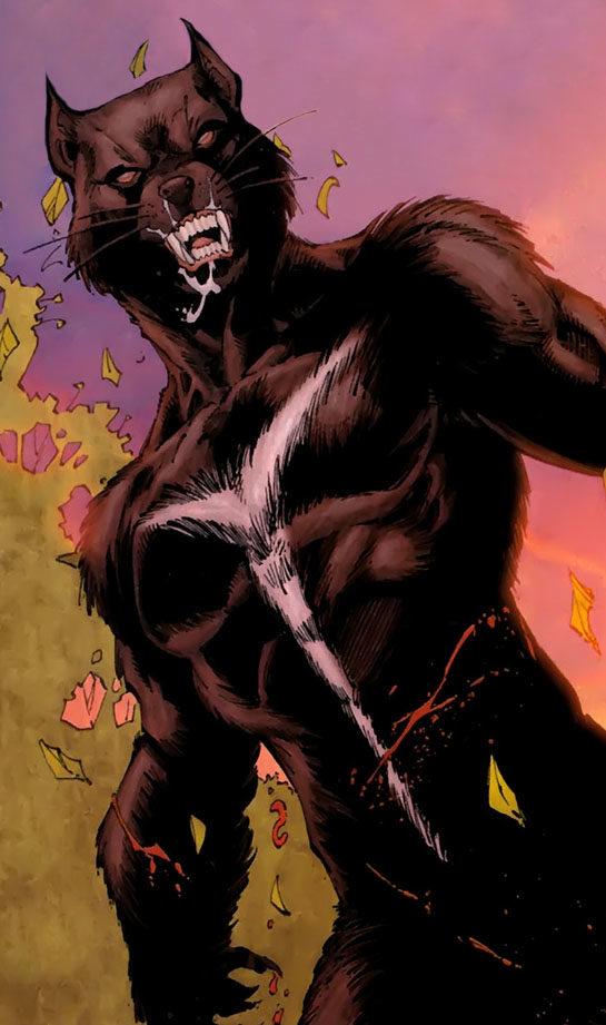 Depiction of Tasmanian Devil standing above an unlucky opponent. The Tasmanian Devil is a gay DC superhero.
